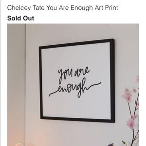 UO Chelcey Tate You Are Enough Art Print